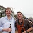 David Wood, left, and Ben Brown at the Casa de Esperanzas Young Professional Chili Cook-off February 2014