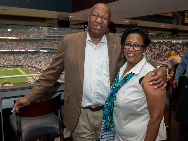 15 Jody Jiles and Sonceria Messiah Jiles at the Houston Texans Owner's Suite party at NRG Stadium September 2014