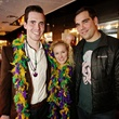 16 Pat Bradley, from left, Carol Olson and Seth Laroche at Gray's Public House Mardi Gras grand opening benefiting Urban Green February 2015