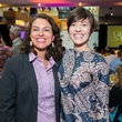 1 Ashley Dubbelde, left, and Nicole Holub at the M.D. Anderson Gold Star Luncheon September 2014