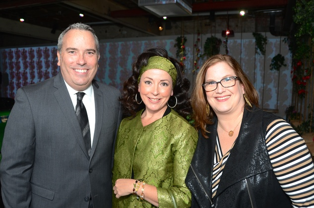 11 Jason Fuller, from left, Frida Dillenbeck and Kelly Gartner at the DiverseWorks Fashion Fete November 2014