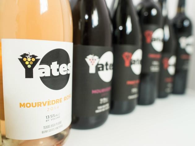 Yates Winery wine bottles