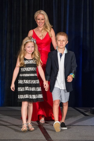 428 Isabel Brown, from left, Jennifer Brown and Noah Brown at the Boys & Girls Harbor Fashion Show April 2015