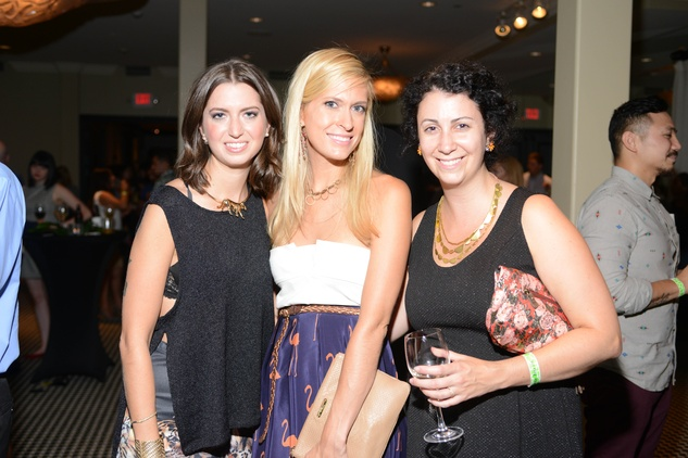 Tamar Mendelssohn, from left, Kendall Hanno and Anne Fisher at the ZooZa Event at Hotel ZaZa August 2014