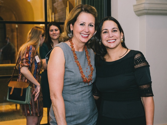 Ileana Treviño, left, and Alina Garcia at The Memorial Hermann at the Under the Boardwalk kickoff party