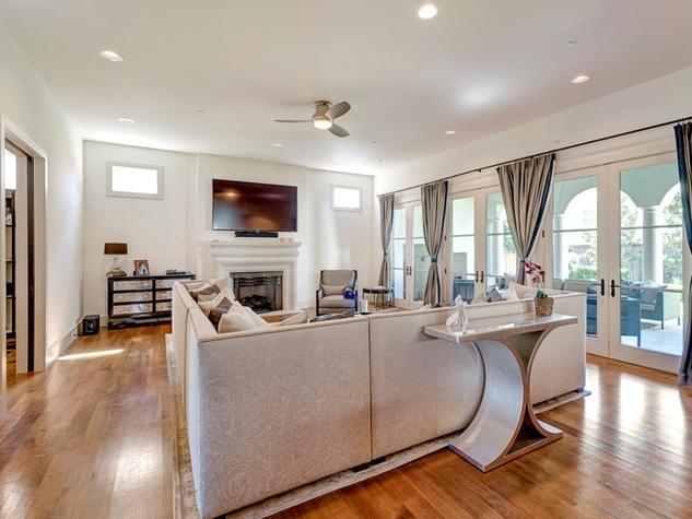 Family room at 3417 Villanova in Dallas