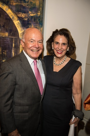 2670 George and Lois  Stark at the Barbara Hines Art Opening in Dallas October 2014