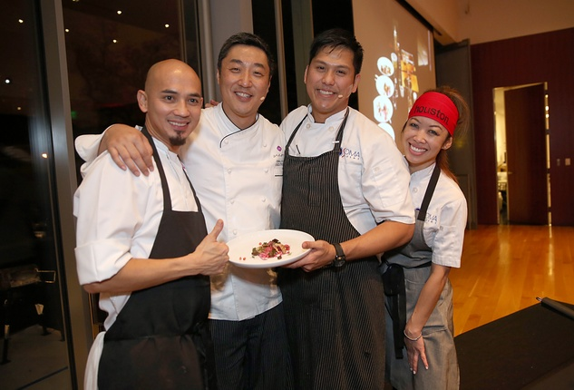 144 Chefs at the Asia Society Texas Center Kobe beef Cook-off December 2014