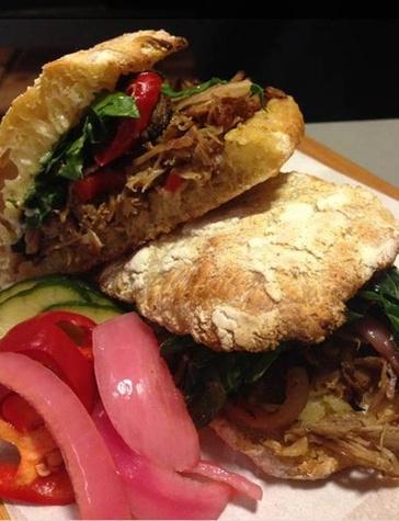 St Philip pulled pork sandwich