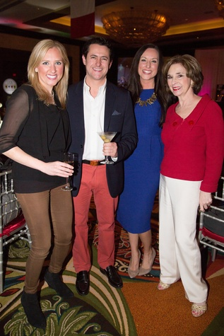 12 Emily Shuffield Hanley, from left, David Denenburg, Kerri Childress and Helen Perry at The Social Book 2015 Launch Party January 2015