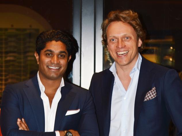 Suitsupply VP Nish de Gruiter and CEO and Founder Fokke de Jong December 2013