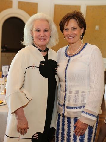 Donna Bruni, left, and Bobbie Nau at the St. Luke's Friends of Nursing luncheon April 2014