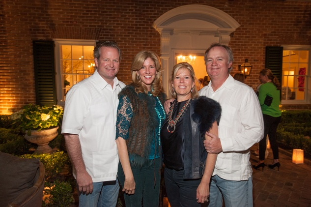 8A- Grady and Sissy Roberts, from left, and Paige and Todd Johnson at the Clayton Dabney fundraiser March 2014