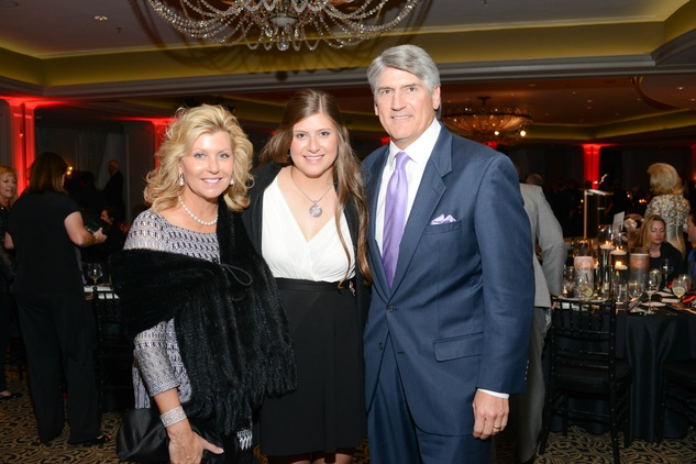 36 Susan Plank, from left, Kendall Plank and Mike Plank at the Krist Samaritan Gala November 2014