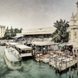 "Archival pigmented ink print, ""From Bridge near Train Station, Venice,"" by Dan Burkholder"