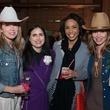 Caroline Levander, from left, Annette Eldridge, Gina Gaston and Julie Fette at the Hope Stone Gala March 2014