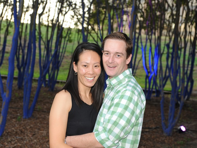 Ting and John Bresnahan at HAA's Under The Blue Trees Pop-Up Party October 2013