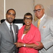 Khalil Kinsey, from left, with Shirley and Bernard Kinsey at the HMAAC Kinsey Collection reception August 2014