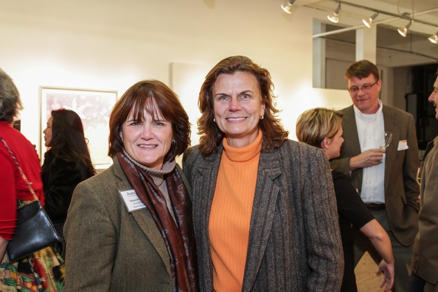16 Raequel Roberts, left, and Renae Scott at the Art on the Avenue benefit November 2014