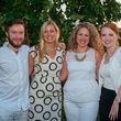 Clark Newman, from left Jessica Hart, Johnna Carlson and Holli Strong at the Urban Green Birthday en Blanc May 2014