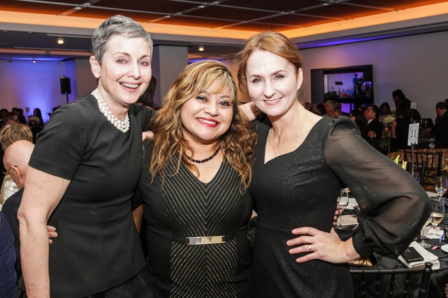 20 Leigh Van Horn, from left, Maria Chavez-Berry and Dawn McCarty at the UH Downtown 40th anniversary gala January 2015