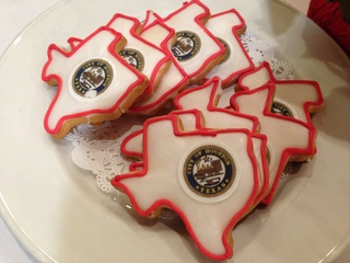 Cookies in the shape of Texas for Annise Parker speech to National Press Club in DC Dec 2013