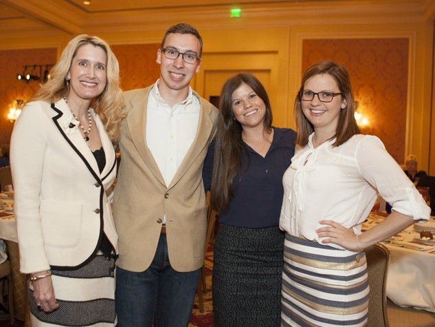 Melanie Eads, Samuel hughes, Dina O'Brien, Stephanie Portner, MS Luncheon