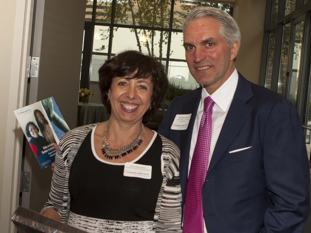 Elisa Massimino and David Matthews at Human Rights First office launch