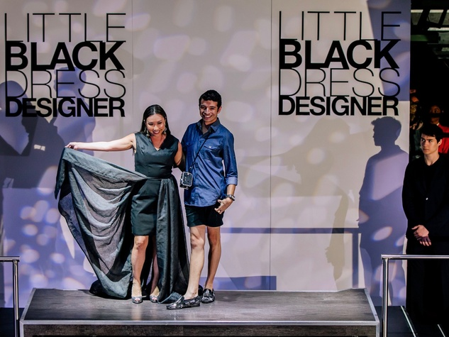 Lily Jang, Alan Gonzalez at Little Black Dress Designer 2017