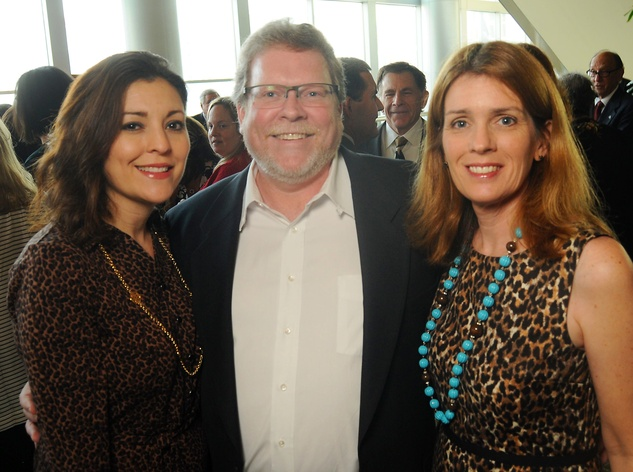 19 Noralisa Martinez, from left, and David and Debra Boniuk at the Guardian luncheon November 2013