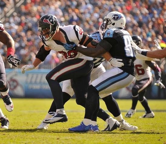 J.J. Watt Texans Titans hold
