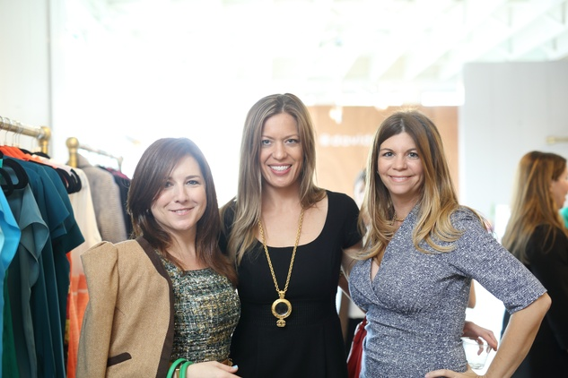 33 Donae Chramosta, from left, Lauren Biggs and Jennifer Pierce at the David Peck spring summer 2015 fashion show March 2015