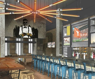Hilton Austin downtown hotel 2016 renovation rendering Austin Taco Project interior