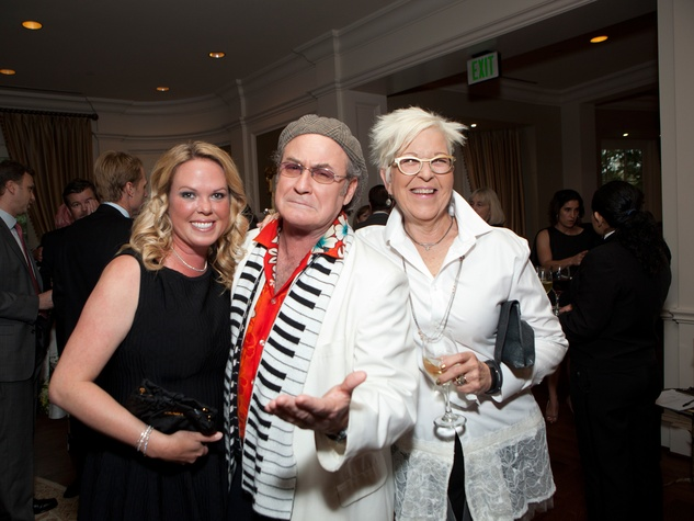 Mary Elizabeth Sand, from left, Robin Williams impersonator and Valerie Cook at the SIRE Under the Stars event April 2014