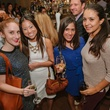 13 Courtney Pearce, from left, Arin Marx, Alayna Pagnani-Gendron and Yasmin Margolis at the CultureMap Social at Saint Genevieve October 2013