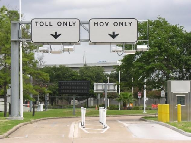 METRO Houston toll lane and HOV lane December 2013