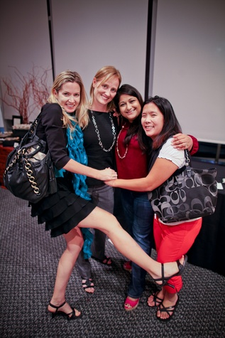 Caroline Allison, frmo left, Adrienne Pauly, Cynthia Thaker and Jennifer Ju at the Houston Ballet Center for Dance's Ballet and Bubbles October 2013