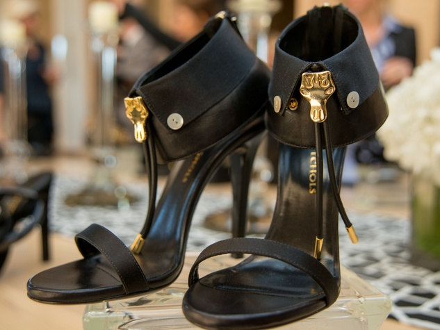 17 Strappy black shoes with longhorn bolos at Joyce Echols Shoes Preview March 2015