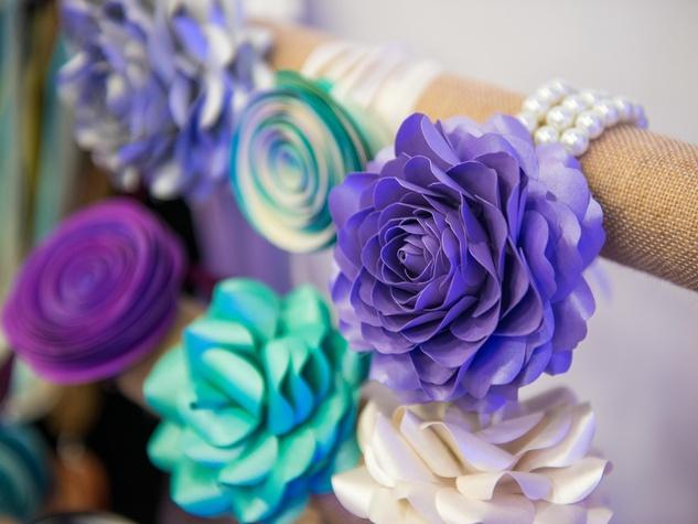 2 Floral bracelets at the Paper Flower Artistry January 2015