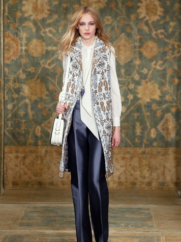 Clifford Fashion Week New York fall 2015 Tory Burch March 2015 Look 05