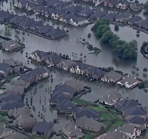 flooding in Fort Bend County from tropical storm Harvey