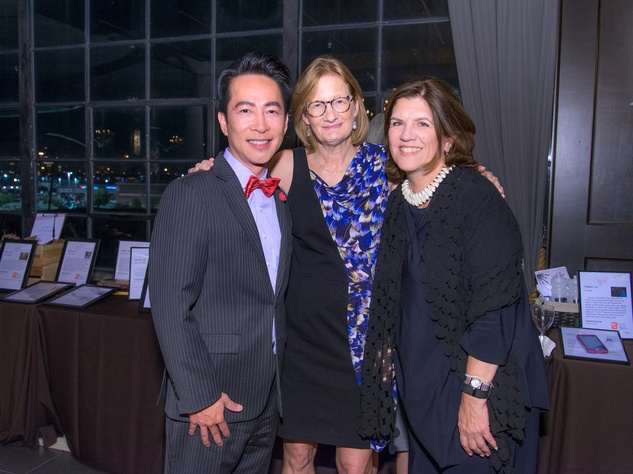 Houston, Writers in the Schools gala, Dec 2016, Long Chu, Carol Marshall, Helen Currier