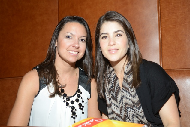 7 Mari Deshon, left, and Kristina Rosenwasser at the Cordua cookbook event November 2013