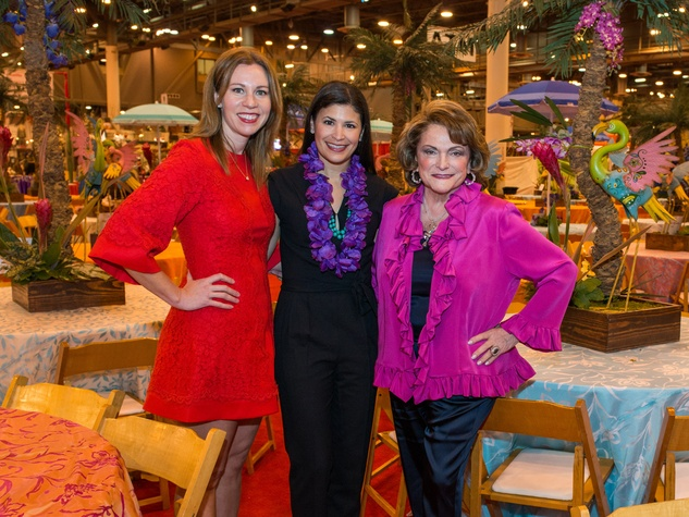 7 Allison Flikerski, from left, Kristy Bradshaw and Beth Wolff at The Nutcracker Market preview party November 2014