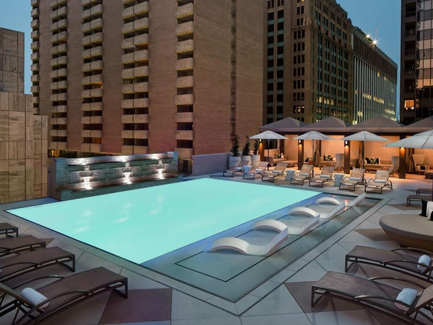 Storied downtown Dallas hotel unveils splashy new rooftop feature ...