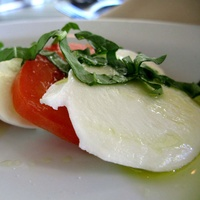 Caprese salad at La Perla Italian restaurant in Dallas