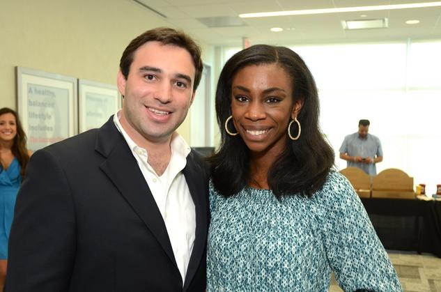 Jason Kaminsky and Danielle Simms at WOW's Membership Drive June 2014