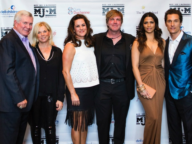 Mack Jack and McConaughey 2016 Gala Mack Brown Sally Brown Jack Ingram Amy Ingram Matthew McConaughey Camila Alves