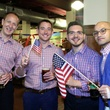 59 Adam Renz, from left, Tom Sulkowski, Paul Fagin and Harit Ghelani at the Houston Area Women's Center Young Leaders Independence Day Bash July 2014