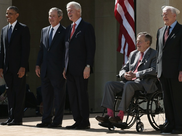Five living presidents at George W. Bush Presidential Center dedication in Dallas